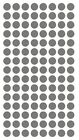 "1-4"" Dk GREY GRAY Round Color Coding Inventory Label Dots Stickers MADE IN USA"