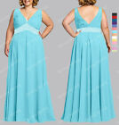 New PLUS SIZE Beaded Bridesmaid Wedding Formal Gown Ball Evening Dress SP274 L O