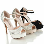 miami vice fancy dress - Vice107 D'orsay Rhinestone Studded Platform Ankle Strap Dress Pump Sandals