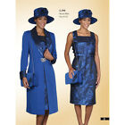 long dress with coat - Lady's New Luxious Formal  Long Dress with Over Coat Suit Royal Blue by Lynda's