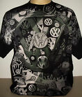 Volkswagen VW Collage All Over Print T-Shirt Size 2XL & 3XL Beetle Splitty new!