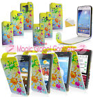 STYLISH FUNKY PAINT SPLASH SPLAT LEATHER FLIP POUCH CASE COVER FOR MOBILE PHONES