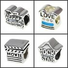 925 sterling silver charm bead anniversary movie life Fit European Bracelet