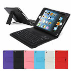 Leather Bluetooth Wireless Keyboard Case Cover for Apple iPad mini 2 1