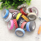 New Styles Washi Masking Tape DIY Cotton Fabric Tape Stationery Colorful Sticky