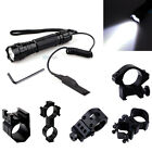 Outdoor CREE T6 LED 1000LM Tactical Flashlight Torch with Mount Pressure Switch