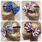 England UK British Union Jack London Dog Hair Bow Stretch Hairband Headband