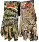 Under Armour UA HG Heat Gear Liner Men's Camo Hunt Gloves