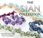 Sian bracelet and earring jewellery kit diy with full instructions+free uk post
