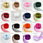"1"" 25mm Quality Sheer Woven Edge Organza Chiffon Ribbon Wholesale price 16color"