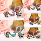 Stylish Zinc Alloy With Crystal Rhinestone Charm Fox Individuality Ring 17mm !!