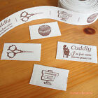 2 yards: Cut & Sew Labels/ Linen Cotton Ribbon 25mm Cuddly Handmade
