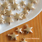 20pcs: Matt Gold Metal Star Pendant 2 sizes Accessory Craft DIY