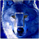 BLUE WOLF LIGHT SWITCH COVER,STICKER,