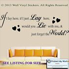 Snow Patrol Lyrics Sticker Wall If I Lay Here Song Quote Decal Heart SM