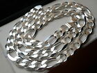 "13mm 925 STERLING SILVER MEN'S FIGARO LINK CHAIN NECKLACE 20"" - 36"""