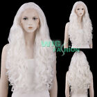 """18""""-28"""" Long Curly White Lace Front Synthetic Hair Wig"""