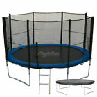 10FT Trampoline With FREE Safety Net Enclosure, Ladder, Rain Cover