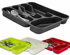 5 COMPARTMENT CUTLERY DRAWER TRAY ORGANIZERS,TIDY UR KITCHEN,RED,GREEN,GREY