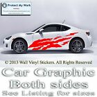 Car Graphics,Stickers Butterfly Flower Vinyl Decals Van Custom Stripe 2 x Large