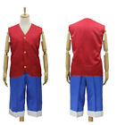 ONE PIECE Monkey D. Luffy Cosplay Costume Jacket Pants Custom Size Top quality