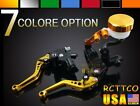 New For Universal BUELL Motorcycle Brake Clutch Levers Fluid Reservoir Aluminum