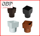 Downpipe Adaptor Square to Round Connector (Black / White / Brown / Caramel)