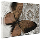 Abstract Brown Floral Butterfly Canvas Print  Wall Art  Large or Small Prints
