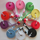 3/6/10FT Micro USB Flat Noodle Charger Cable Cord for HTC Samsung Galaxy Note2/3