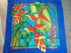 PASSION Silk handkerchief hand-painted bandana 100% Silk 90x90cm Flower Blooms
