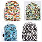 1 pc Free Shipping Canvas Owl Print Girls Children School/Travel Casual Backpack