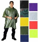 Vinyl Waterproof Hooded Poncho Assorted  3682 Rothco