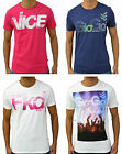 Mens Gio Goi Designer Trendy T-Shirt Casual Cotton Crew Neck Printed T Top S-XL