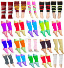 GIRLS LADIES TEEN 80'S DANCE PLAIN RIBBED LEG WARMERS LEGWARMER TUTU FANCY DRESS