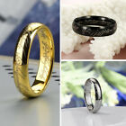 New Lord of Rings The One Ring LOTR Titanium Steel Wedding Engagement 3 Color