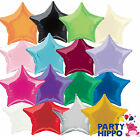 "20"" Plain Coloured Star Foil Balloons Party Helium Quality Wedding 16 colours"