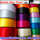 """Satin Ribbon 25mm wide 1 """", ALL COLORS, LENGTH 2M 5M 10M 20M ...100.Sewing Craft"""