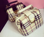 New Womens Cute Checks Messenger Cross Body Bags Handbags Mini Purse Satchel