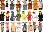 Children's boy girl zoo farm animal  tabard fancy dress costume outfit