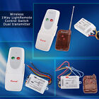Wireless1CH 1 Way Light Lamp Remote Control Switch ON/OFF 220V Dual Transmitter
