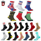 Novelty Shark USA Flag Fashion Anchor Sports High Crew Dress Casual Cotton Socks
