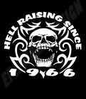 50th Birthday T-Shirt Personalise With Year Of Choice Hell Raising Since .......