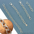 Custom STERLING SILVER .925 Extender Chain for heavy jewelry safety adjust. X5H