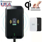 Qi Wireless Charger Charging Pad+Receiver Kit for Samsung Galaxy Note 4 3 2 S5 4