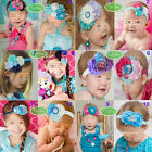 Baby Girl Toddler Frozen Anna Elsa DIY Headband Hair Bow Elastic Rope Band Gift