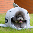 Funny Cute Cozy Soft Warm Shark Mouth Pets House Bed For Dog Cat Puppy Size S/M