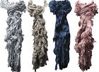 IMTD LADIES SOFT FEEL DESIGNER KNITTED CELEBRITY SCARF WITH FUNKY SIDE FRINGES