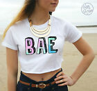 * BAE crop Top Tumblr Fashion Cute Slogan tank ombre pastel Vine Summer or Nah *