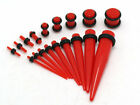 New Kit Set Acrylic Plug Taper Tapers Ear Stretching Expanders Plugs Stretchers