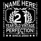 21st Birthday T-Shirt Ladies Add Name Personalise Change Year Gift Idea 21 22 23